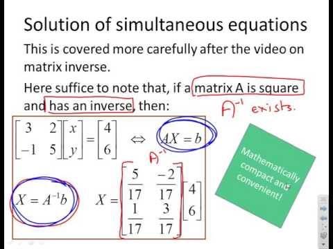 Matrices 7 - engineering uses of multiplication