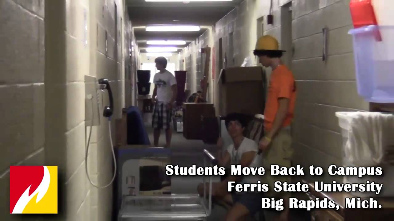 Ferris State University Students Move Back To Campus   YouTube Part 42