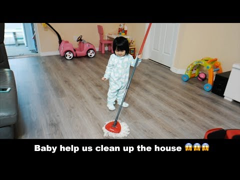 VLOG 4  WE CLEAN UP THE HOUSE TOGETHER!!!
