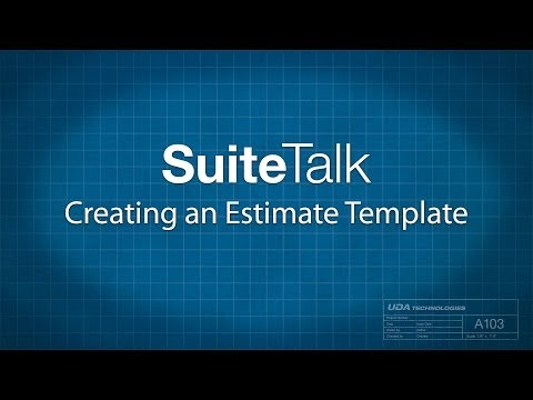 Creating an Estimate Template