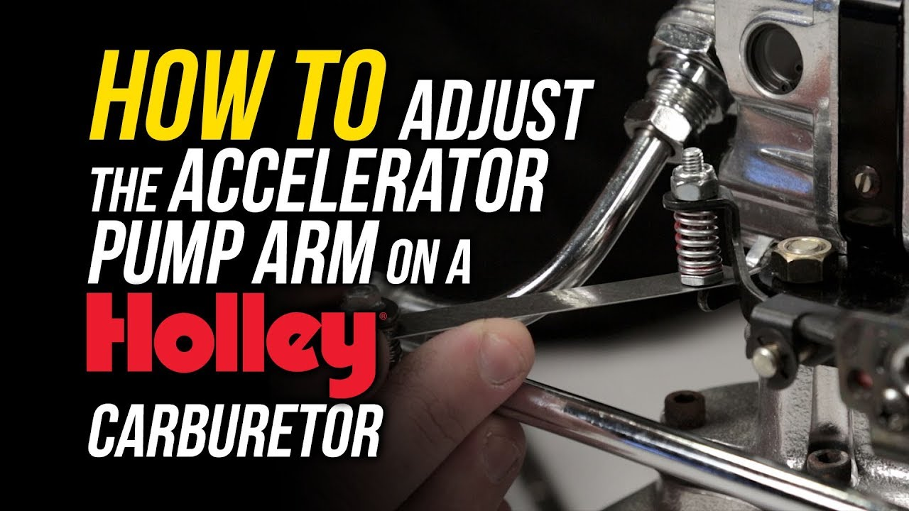 hight resolution of how to adjust the accelerator pump arm on a holley carburetor