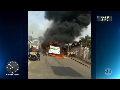 Minas Gerais registra ataques a ônibus em 17 cidades   SBT Brasil (04/06/18)