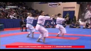 Open de Paris 2014 Finale de Karaté Kata féminin par équipes - France