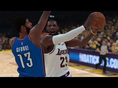 NBA 2K19 Los Angeles Lakers vs Oklahoma City Thunder (NBA 2K19 PS4 Pro Gameplay)