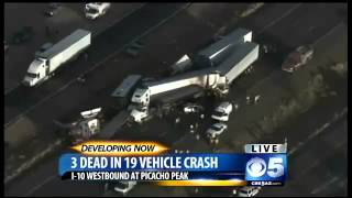 ▶ 3 Killed in Dust Storm Crashes on I 10 At Picacho Peak, Arizona 13 Vehicle Crash Multiple Injuries