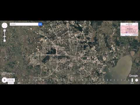 Houston, Texas - Urban Sprawl Time Lapse