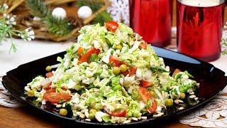 """Авторский салат из пекинской капусты """"Восторг""""! Идеальный рецепт легкого салата без майонеза!"""