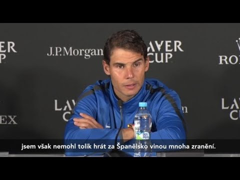 Rafael Nadal & Tomas Berdych Press conference / Day 1 Laver Cup 2017