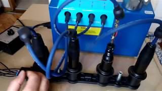 Проверка 4-х канальных кассет зажигания на стенде Молния-М