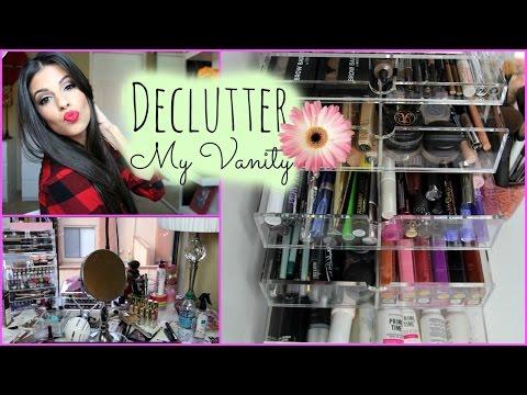 Organize My Makeup Collection: Makeup Vanity