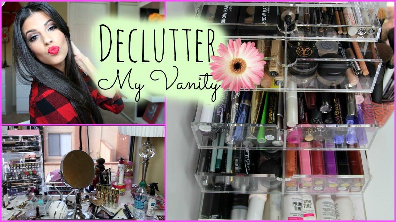 How To Organize Makeup Vanity