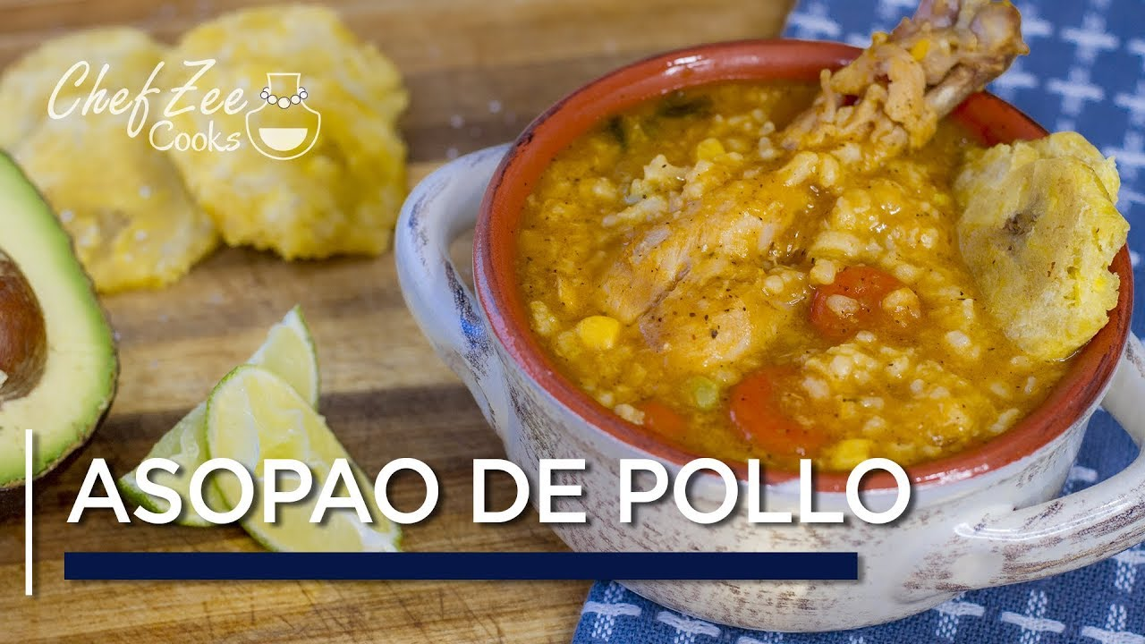 Asopao De Pollo Dominican Chicken And Rice Soup One Pot Recipes Chef Zee Cooks Youtube