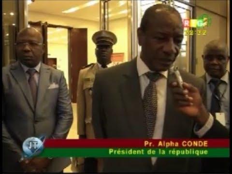 JT RTG 28.06.2014. Le président Alpha Condé toujours à Malabo: