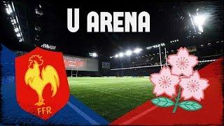 Premier match de rugby à la U arena ! [Fra - Jap]