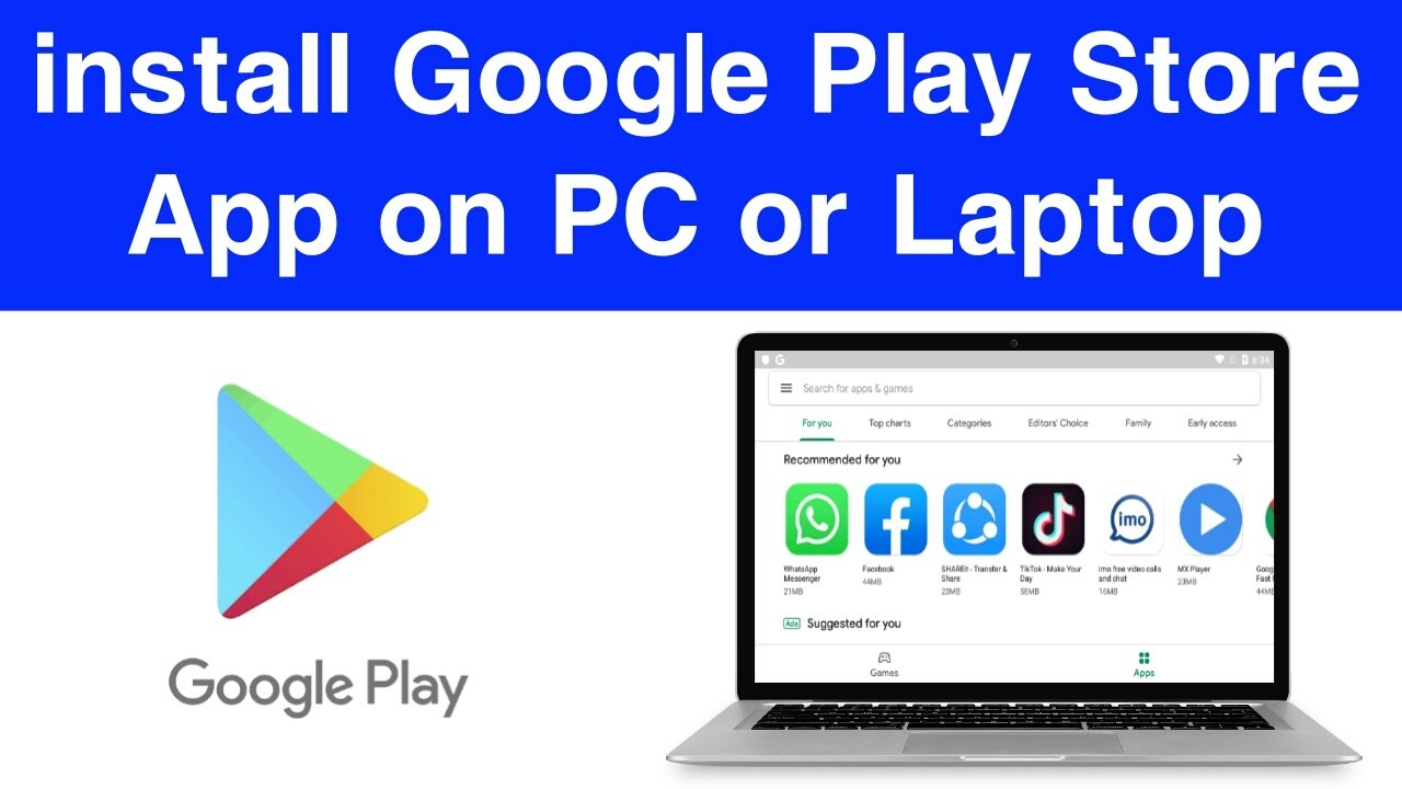 How to install Google Play Store App on PC or Laptop   Download Play Store Apps on PC   Part 2 - YouTube