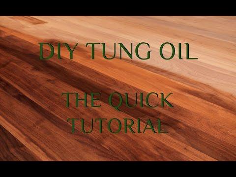 DIY TUNG OIL | QUICK TUTORIAL