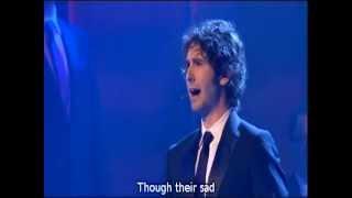 Josh Groban - Anthem from musical Chess with lyrics - Royal Variety, London Palladium (2008)