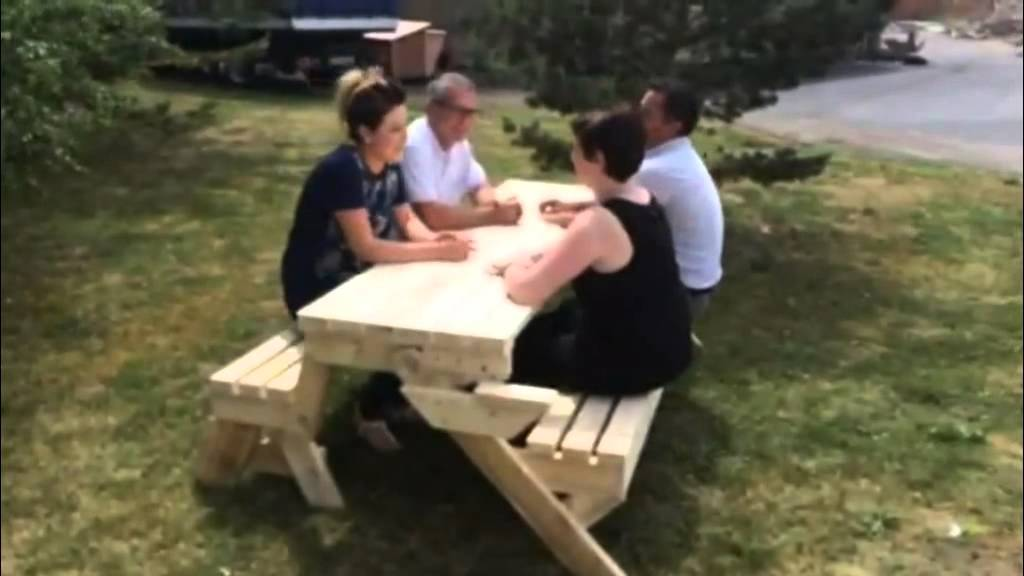 Banc Table En Bois Convertible 2 En 1 Laurençot Industries Youtube