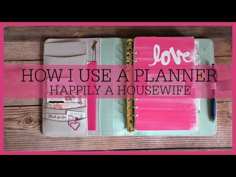 How I Use A Planner | HAPPILY A HOUSEWIFE