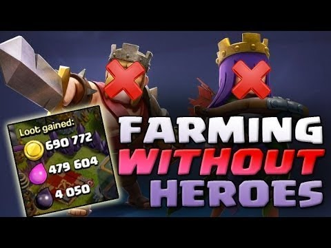 HOW TO FARM GOLD AND ELIXIR WITHOUT HEROES ON TH9 | FARMING STRATEGY ON TOWN HALL 9| CLASH OF CLANS