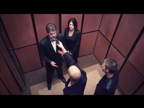Victor Marx and wife fight attackers with gun, in elevator scene in film