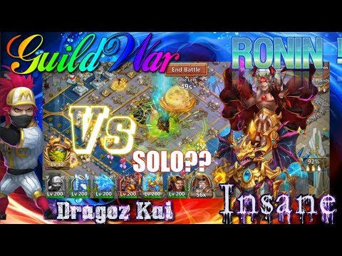 RONIN SOLO GUILD WAR?Vs Phobos & Zephyrica - Castle Clash