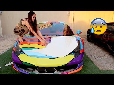 SHE DESTROYED THE FERRARI !!!