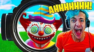 Ninja FREAKS OUT after Scary Clown Pops Up in Fortnite!