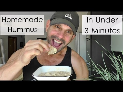 Amazing Homemade Hummus | In Under 3 Minutes