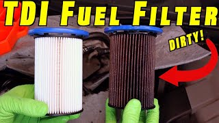 How To Install TDI Fuel Filter ~ Diesel Fuel Filter Change