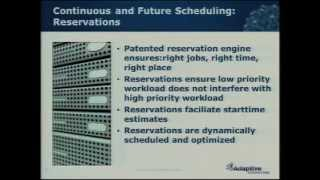 Auto SLA Enforcement -- Continuous and Future Scheduling, Reservation and Preemption