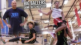 Big Ballers Respond to HEATED TEAM with BUCKETS! Melo Shows Up Late In WRONG JERSEY!