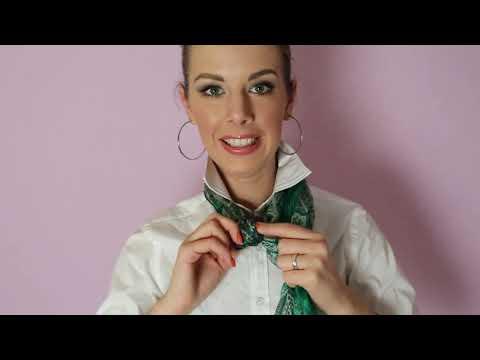 Как красиво завязать большой платок