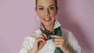 видео Как завязать шарф , платок разными способами + фото