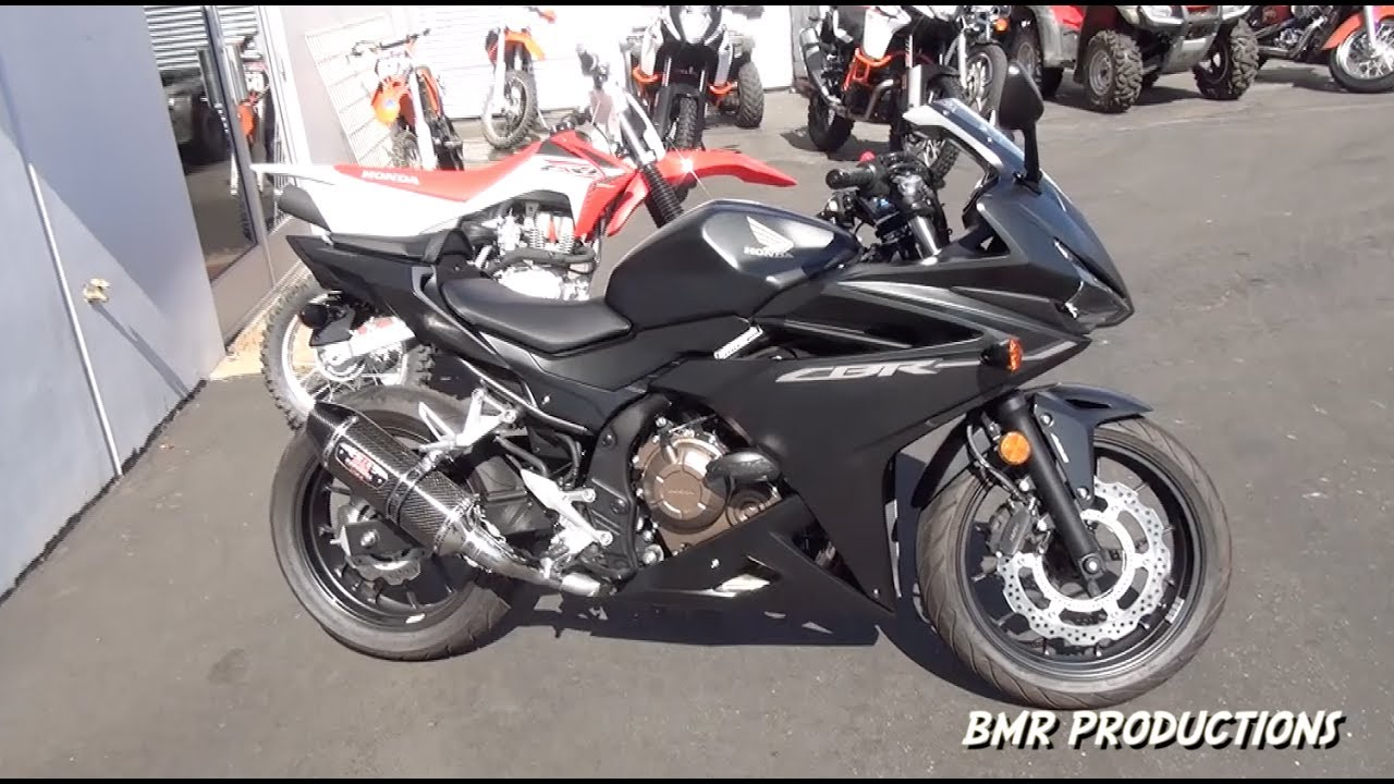 Picking Up My New 2016 17 Honda Cbr500r Matte Black With Mods Youtube