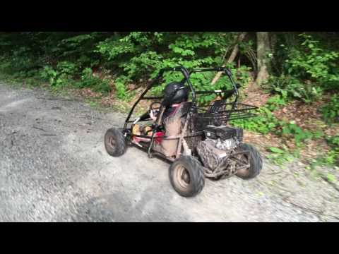 6 yo Go Karting around the Farm in his Coleman KT196 - YouTube
