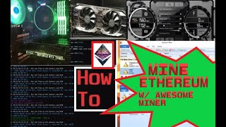 How to MINE ETHEREUM With AWESOME MINER Using an EVGA 2060 SUPER