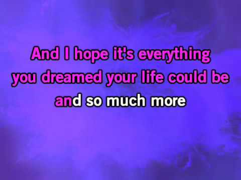 Miley Cyrus-I Hope You Find It-Karaoke