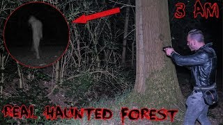 DO NOT EXPLORE THIS REAL HAUNTED FOREST AT 3 AM! **TERRIFYING**