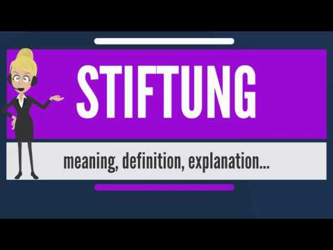 What is STIFTUNG? What does STIFTUNG mean? STIFTUNG meaning, definition & explanation