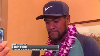 Utah's Tony Finau the 12th pick for 2018 Ryder Cup squad