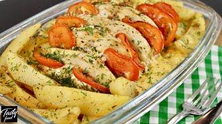 Вкусное Горячее Блюдо из Картофеля и Курицы!