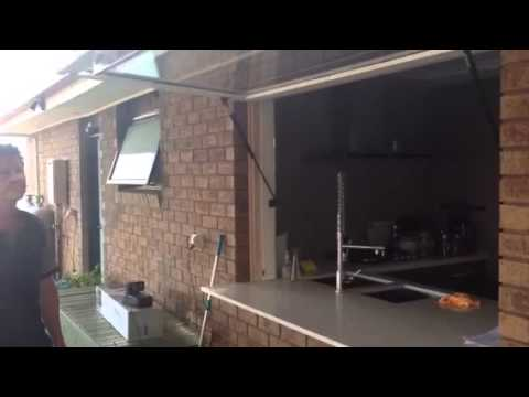 Kitchen Window Transformed By Gas Struts Youtube
