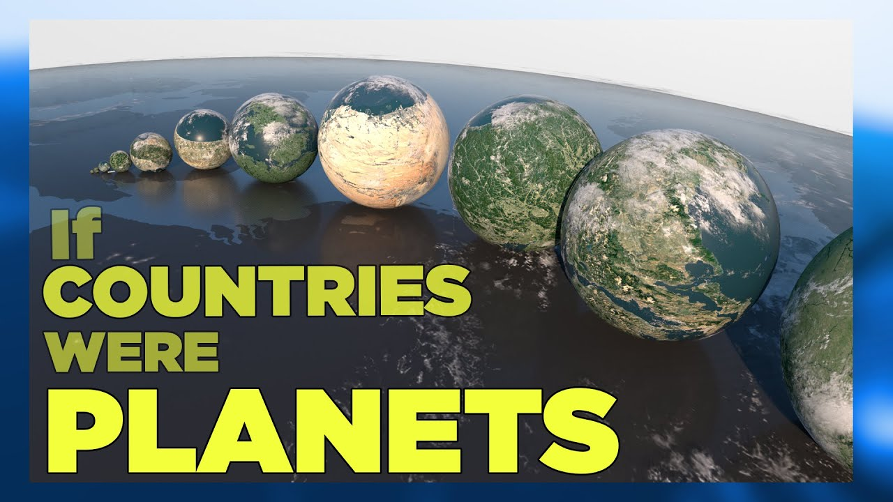 If COUNTRIES were PLANETS ▬ (SURFACE AREA) ? [3D]