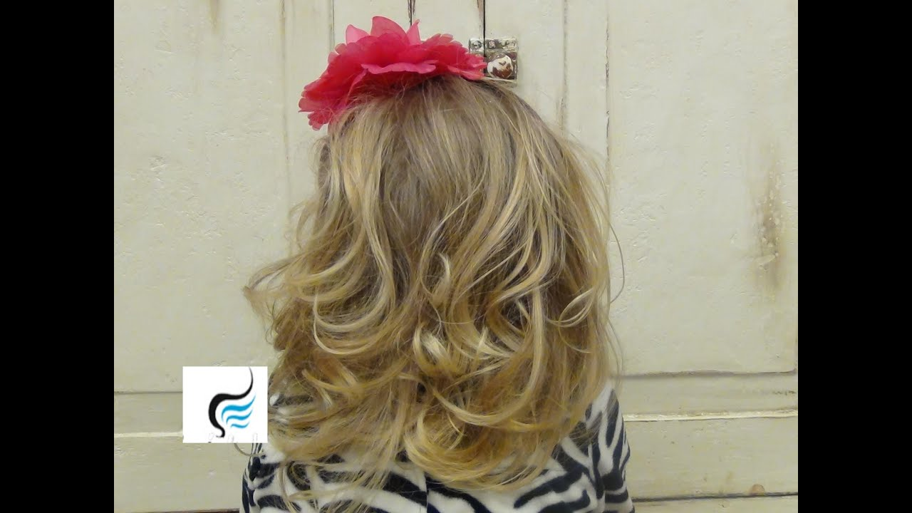 Curly Little Girls Hairstyles Using a Flat Iron