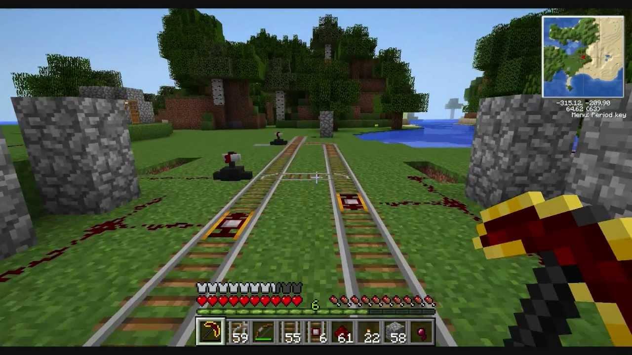 Railcraft train tutorial minecraft