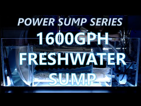 Power Sump Series: 1600Gph freshwater African Cichlid sump introduction and overall construction