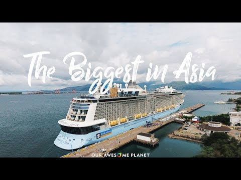 Asia's Largest Cruise Ship Docks in Manila