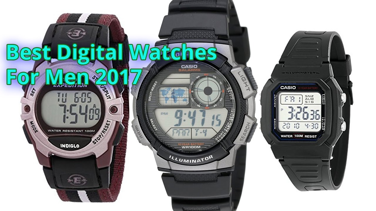 Best digital watches for men 2017 best smartwatch men 39 s watches best casio watch youtube for Watches digital