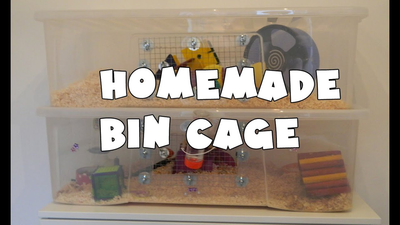 How To Make A Homemade Hamster Bin Cage Youtube